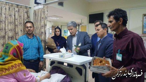بازدید فرماندار از بیمارستان امام خمینی(ره) بندرترکمن و عیادت از بیماران بستری