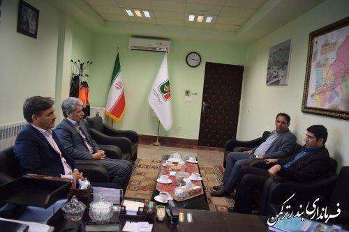 دیدار فرماندار ترکمن با مدیرکل راهداری و حمل و نقل جاده ای استان
