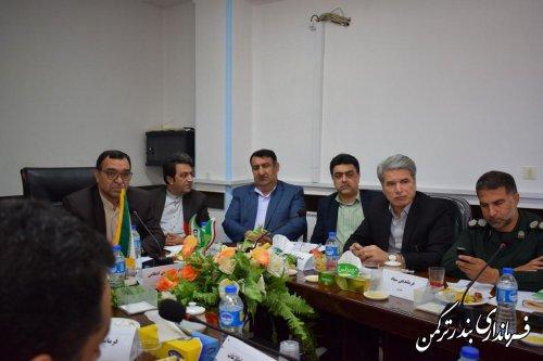 حضور فرماندار ترکمن در جلسه کمیسیون مشترک پیشگیری و مقابله با سرقت شورای تامین استان های گلستان و مازندران