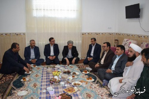 دیدار مدیران کل امنیتی و انتظامی استانداری های گلستان و مازندران با امام جمعه بندرترکمن