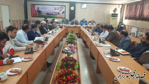 جلسه هماهنگی ستاد گرامیداشت هفته دولت شهرستان ترکمن برگزار شد