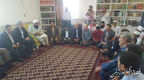 دیدار فرماندار و مسئولین شهرستان ترکمن با امام جمعه شهرستان