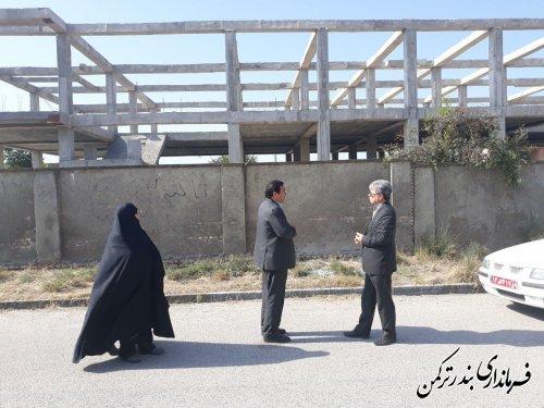 بازدید فرماندار ترکمن از پروژه های عمرانی فضاهای آموزشی شهرستان