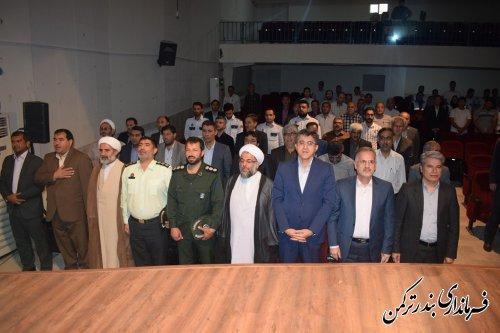 آئین افتتاح متمرکز پروژه های عمرانی، اقتصادی و اشتغالزا شهرستان ترکمن برگزار شد