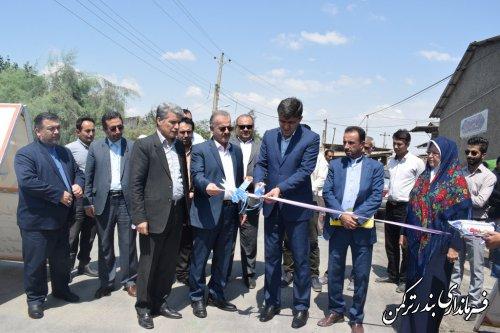 افتتاح طرح هادی روستای آقسین تپه