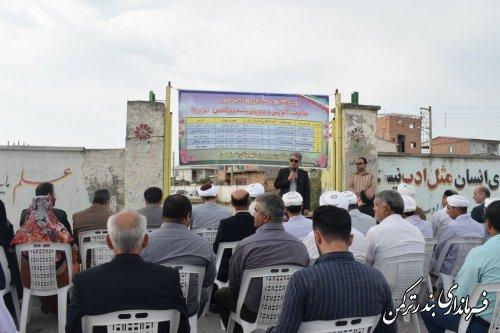مراسم کلنگ زنی متمرکز پروژه های مدارس آموزش وپرورش شهرستان ترکمن