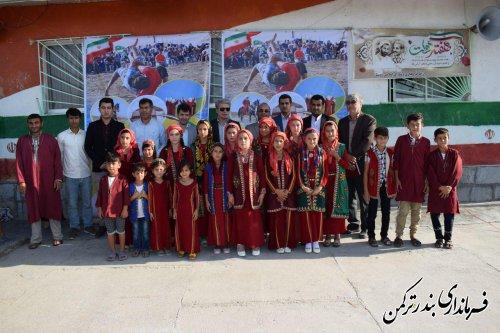 """برگزاری جشنواره فرهنگ و اقتصاد روستا """"امید"""" در روستای سیل زده گامیشلی نزار"""