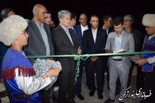 افتتاح پروژه باشگاه سوارکاری همایون در شهرستان ترکمن