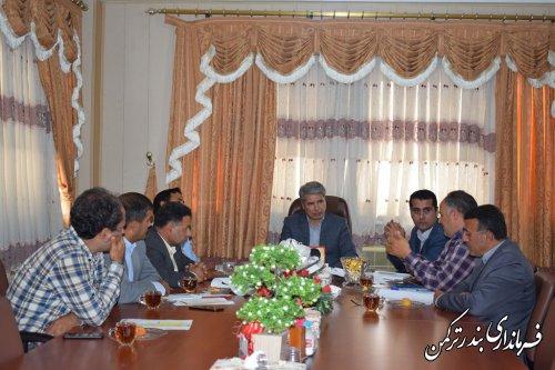 جلسه بررسی مشکلات اجرایی دیواره سنگی کانال اورکت حاجی برگزار شد
