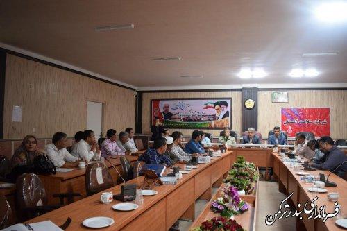 دوره آموزشی توانمندی سازی شوراهای اسلامی و دهیاران شهرستان ترکمن  برگزار شد