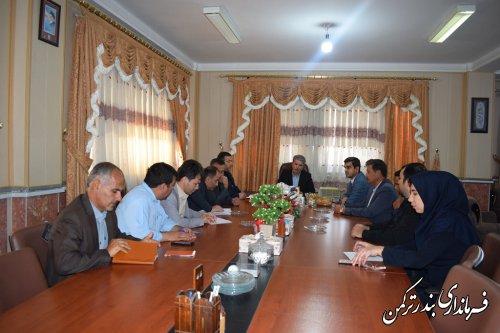 اولین جلسه ستاد انتخابات شهرستان ترکمن برگزار شد
