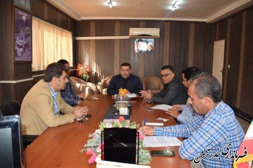 جلسه بررسی مشکلات حوزه راه آهن در شهرستان ترکمن برگزار شد