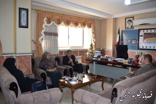 دیدار معاون میراث فرهنگی گردشگری وصنایع دستی استان با فرماندار ترکمن