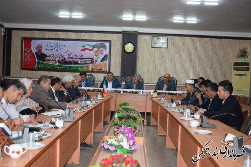 جلسه ستاد ساماندهی امور جوانان شهرستان ترکمن برگزار شد