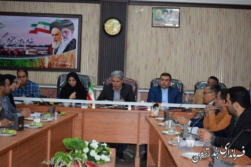 دومین جلسه ستاد انتخابات شهرستان ترکمن برگزار شد