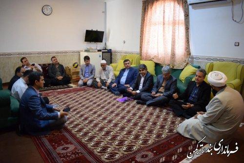 دیدار معاون سیاسی، امنیتی و اجتماعی استاندار با ائمه جمعه شهرستان ترکمن