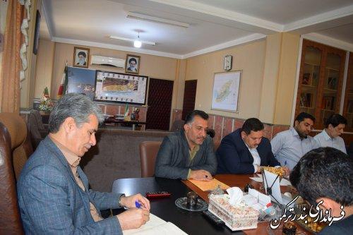 جلسه کارگروه ساماندهی امور گندم، آرد و نان شهرستان ترکمن برگزار شد