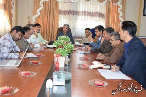 جلسه شورای هماهنگی ترافیک شهرستان ترکمن برگزار شد