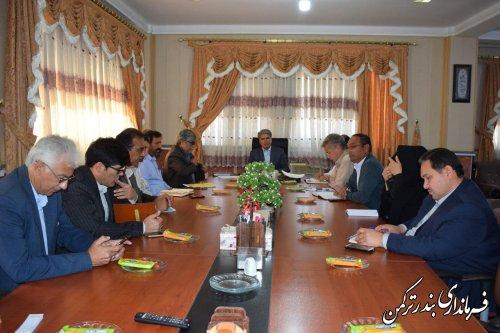 جلسه شورای کشاورزی شهرستان ترکمن برگزار شد
