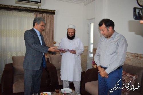 دیدار فرماندار ترکمن با دو تن از روشندلان شهرستان