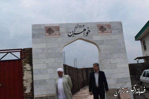 بازدید فرماندار شهرستان بندرترکمن از مسجد بین راهی احمد بن مرسل