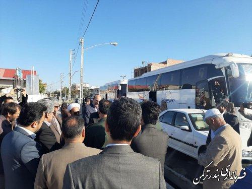 اعزام کاروان راهیان نور دانش آموزان شهرستان ترکمن
