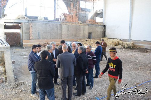 بازدید رئیس شرکت توسعه و تجهیز اماکن ورزشی کشور از پروژه های نیمه کاره شهرستان ترکمن