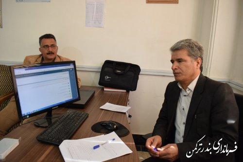 بازدید فرماندار شهرستان ترکمن از اولین مانور کشوری انتخابات