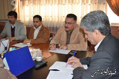 جلسه هماهنگی برگزاری انتخابات فرمانداری شهرستان ترکمن برگزار شد