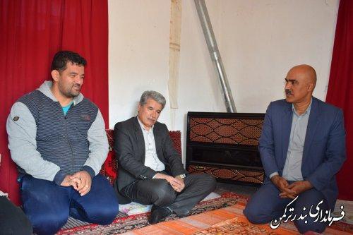 """دیدار و تجلیل فرماندار ترکمن از ورزشکار """"نورمحمد آرخی (اسحاق)"""""""