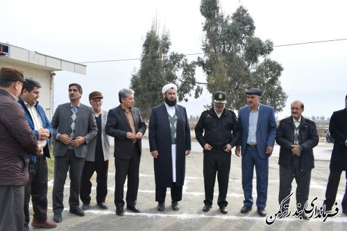 کلنگ زنی نمازخانه مجموعه ورزشی سوارکاری شهرستان بندرترکمن