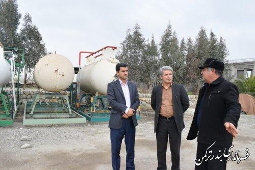 بازدید فرماندار شهرستان ترکمن از شرکت اورسا گاز