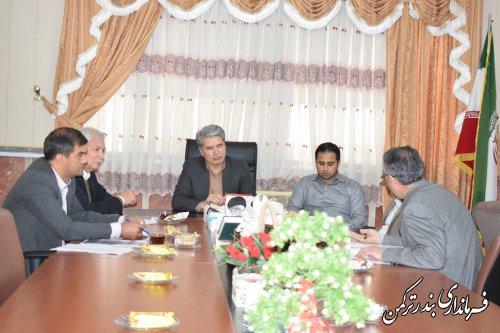 جلسه بررسی وضعیت پروژه شرکت دهکده جهانگردی گلستان در شهرستان ترکمن تشکیل شد
