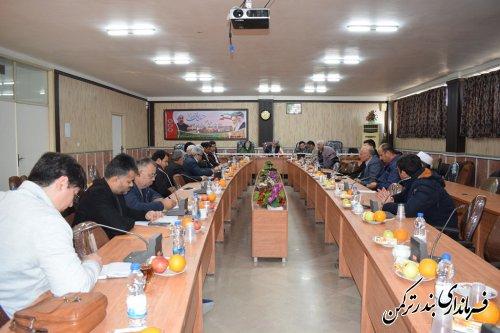 جلسه بررسی مشکلات واحدهای تولیدی شهرستان ترکمن برگزار شد