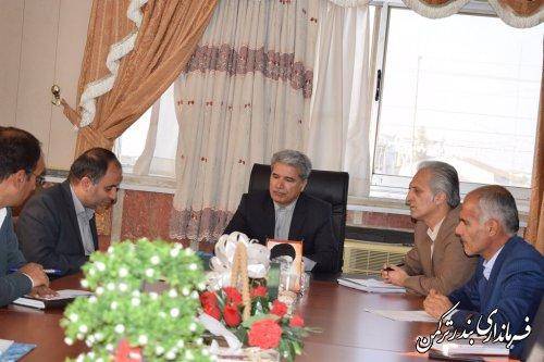 سومین جلسه هماهنگی برگزاری انتخابات فرمانداری شهرستان ترکمن برگزار شد