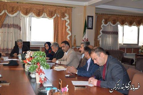 جلسه توسعه فضای سبز شهرستان ترکمن برگزار شد