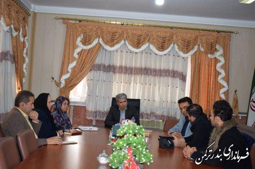 جلسه برنامه ریزی برگزاری نوروزگاه در شهرستان ترکمن برگزار شد