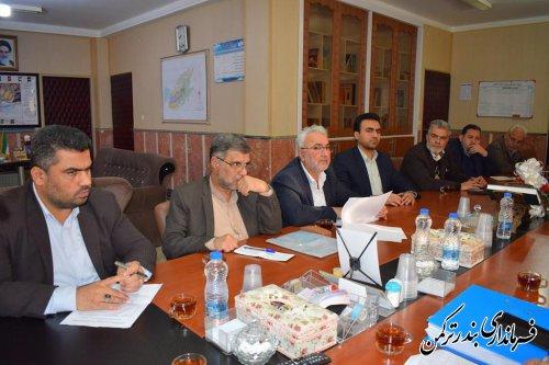 جلسه مشترک اعضای هیئت اجرایی و نظارت انتخابات شهرستان ترکمن برگزار شد