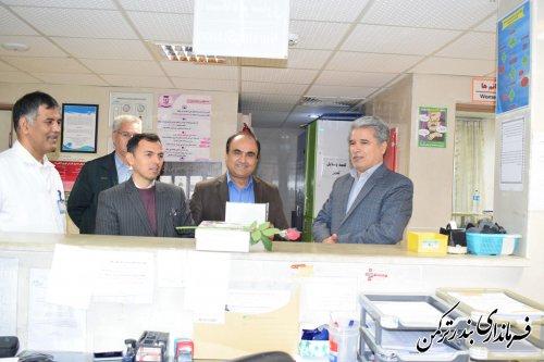 تجلیل فرماندار از پرستاران در بیمارستان امام خمینی (ره ) بندرترکمن