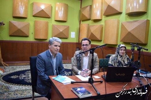 """حضور فرماندار در برنامه رادیویی """"اولکام"""" صدای ترکمن با موضوع انتخابات"""