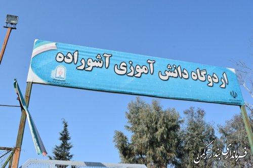 بازدید فرماندار شهرستان ترکمن از جزیره آشوراده