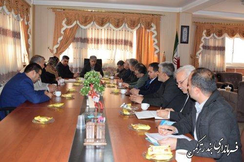 دومین جلسه مشترک اعضای هیئت اجرایی و نظارت انتخابات شهرستان ترکمن برگزار شد