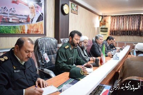جلسه هماهنگی برگزاری مراسم بزرگداشت سردار سپهبد شهید قاسم سلیمانی در شهرستان ترکمن برگزار شد