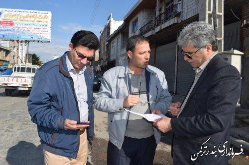 پیگیری پروژه گازرسانی به مسیر اسکله توسط فرماندار شهرستان ترکمن