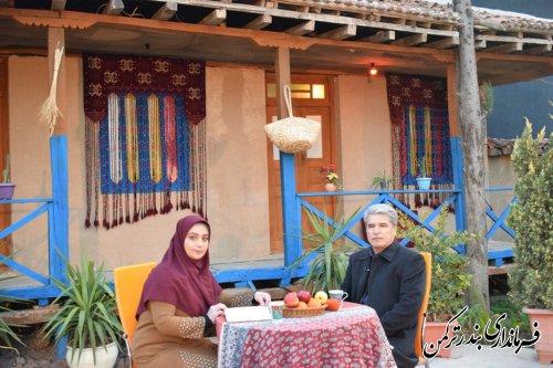 حضور فرماندار شهرستان بندرترکمن در برنامه تلویزیونی صدا و سیمای مرکز استان