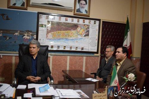 با حضور فرماندار شهرستان ترکمن؛ نشست ویدئوکنفرانس ستاد انتخابات استان برگزار شد