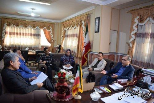 نشست مدیرکل بیمه عشایری و روستایی استان با فرماندار شهرستان ترکمن