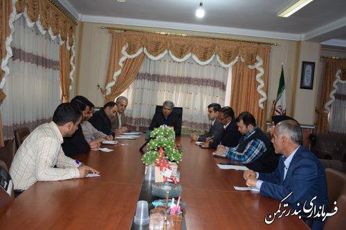 ششمین جلسه هماهنگی برگزاری انتخابات فرمانداری شهرستان ترکمن برگزار شد