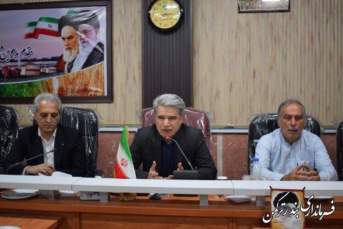 جلسه آموزش عوامل اجرایی شعب ثبت نام و اخذ رای انتخابات شهرستان ترکمن برگزار شد