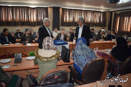 سومین جلسه آموزش مجریان انتخابات شهرستان ترکمن برگزار شد